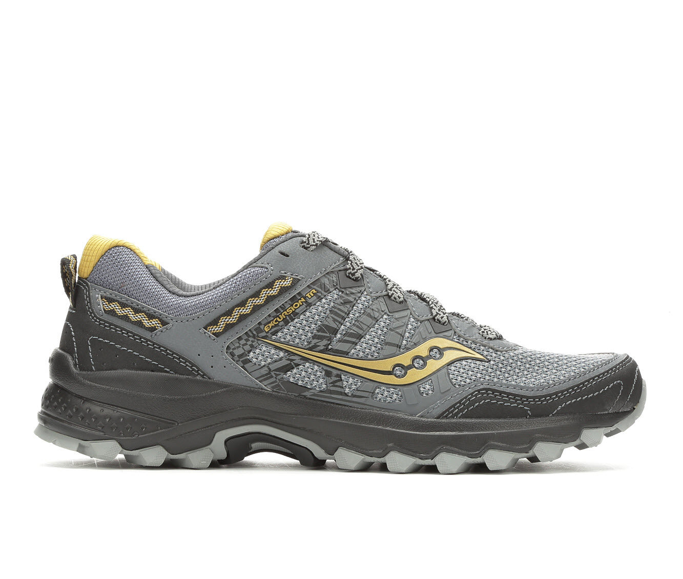 Best Quality Men's Saucony Excursion TR12 Trail Running Shoes Grey/Blk/Yellow