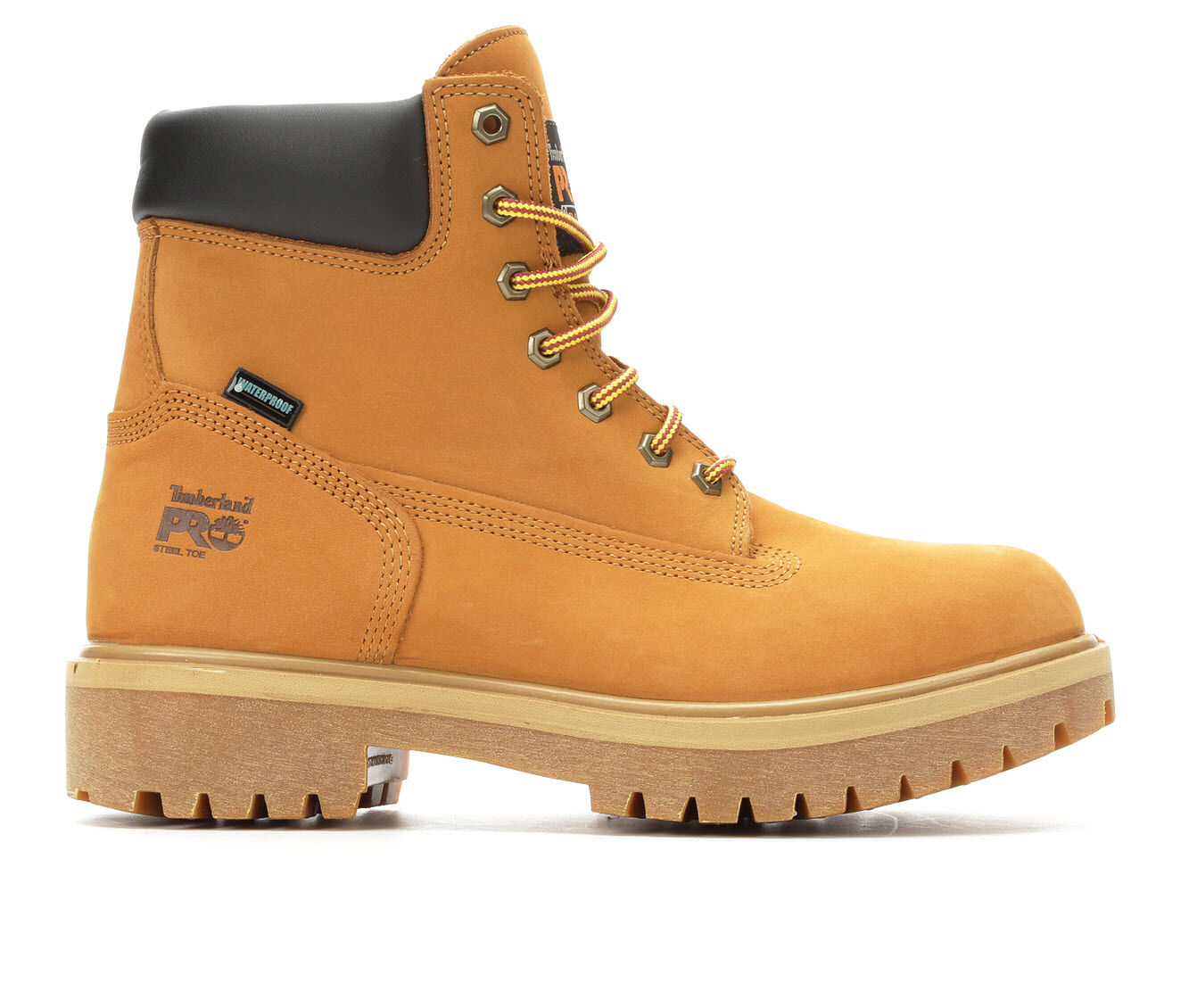 Men's Timberland Pro Direct Attach 65016 Steel Toe Waterproof Work Boots Wheat