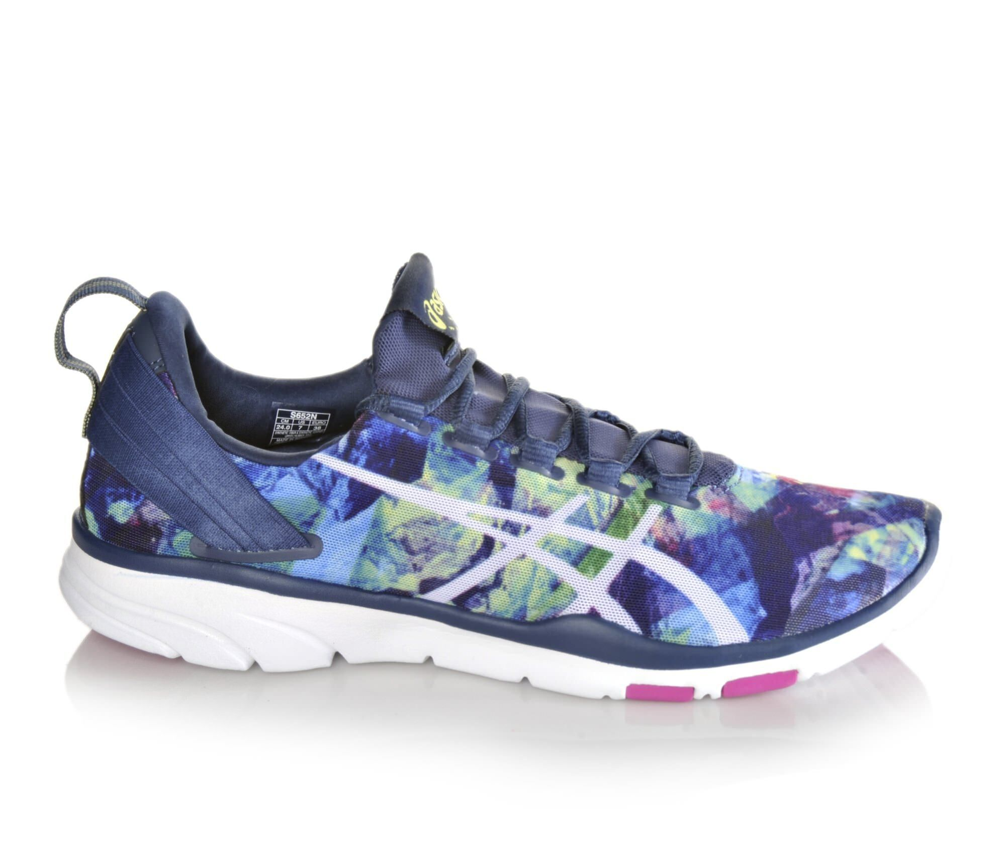 Images Womens Asics Gel Fit Sana 2 Print Sneakers