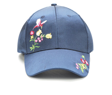 Rampage Satin Floral Embriodery Hat