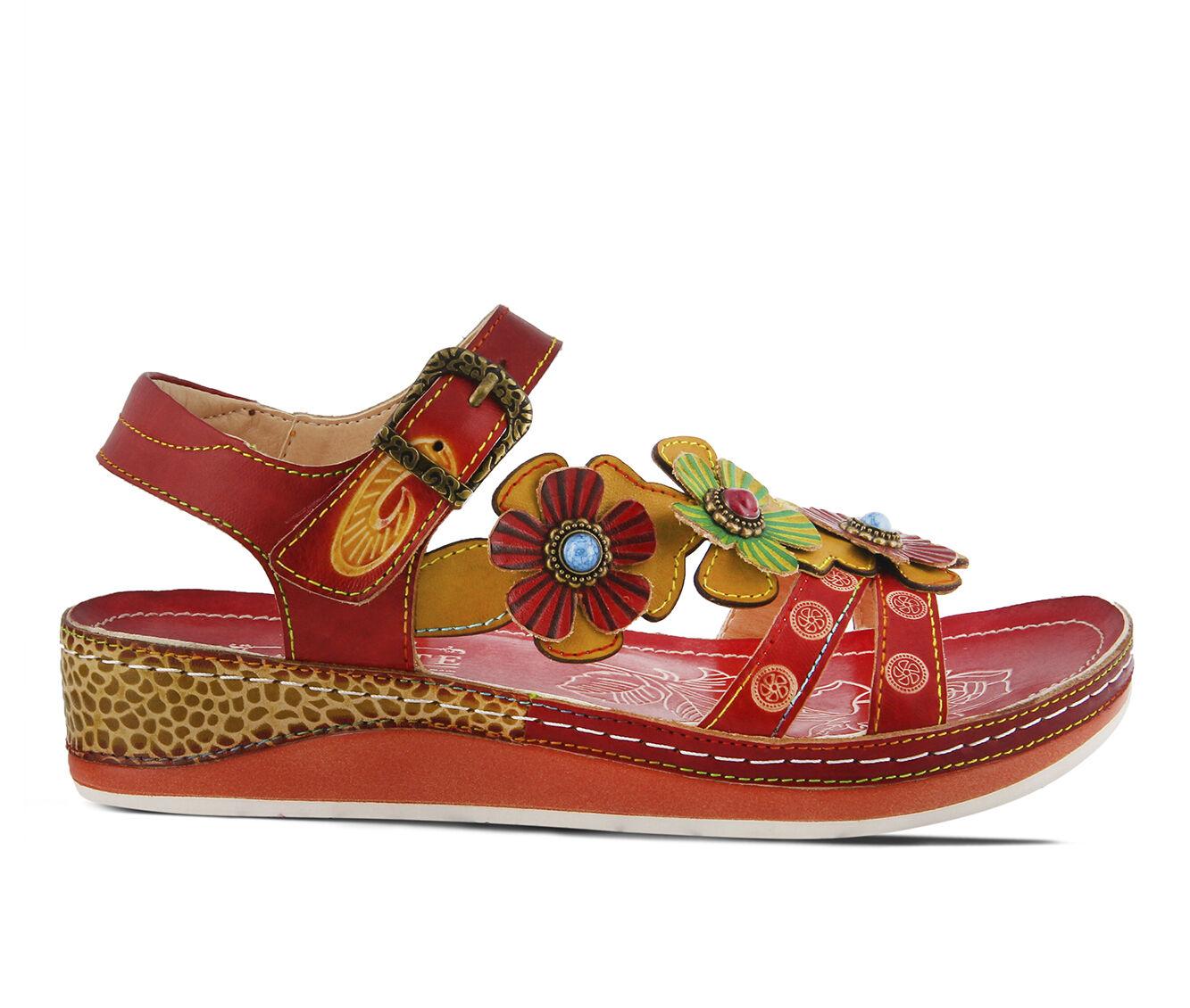 Women's L'ARTISTE Goodie Sandals Red