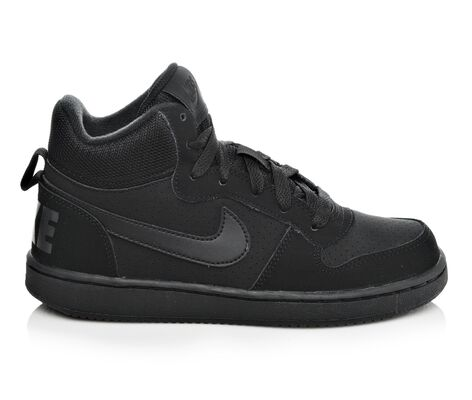 Boys' Nike Court Borough Mid 3.5-7 High Top Basketball Shoes