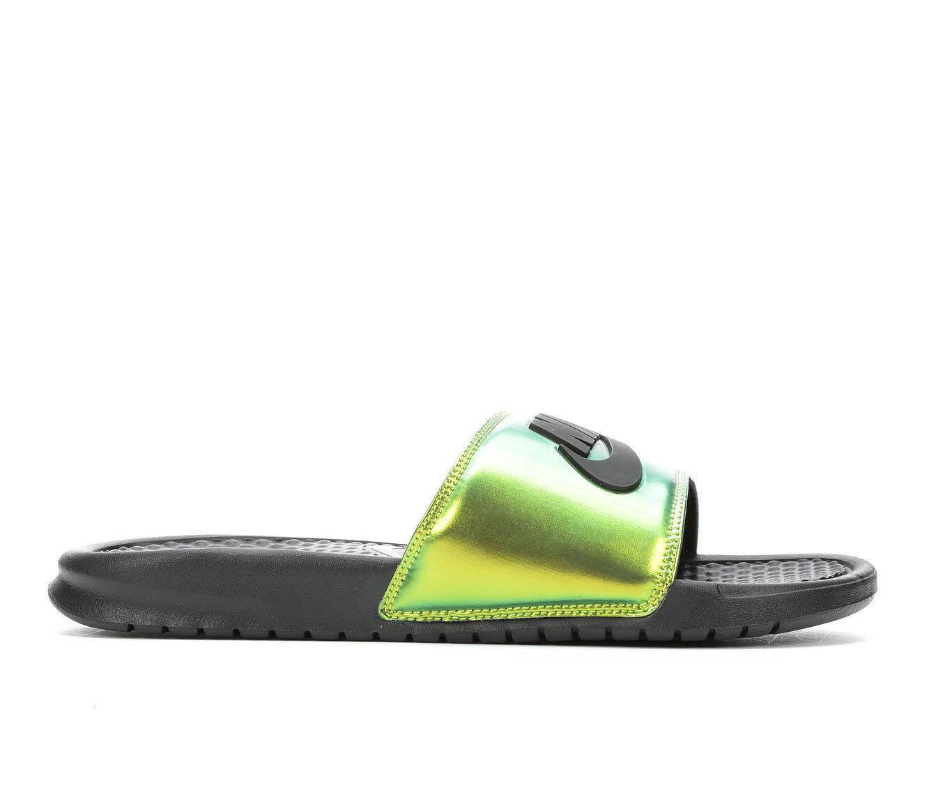 Worldwide Delivery Men's Nike Benassi JDI SE Sport Slides Bk/Electro Grn