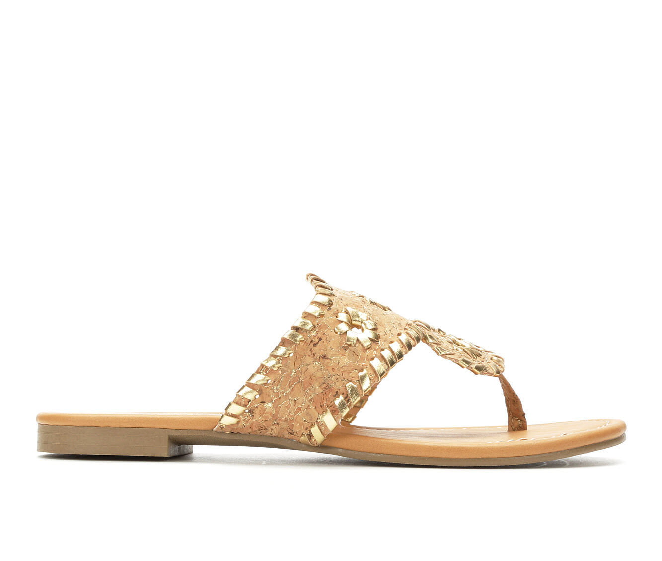 Women's Y-Not Crissy Flip-Flops Cork With Gold