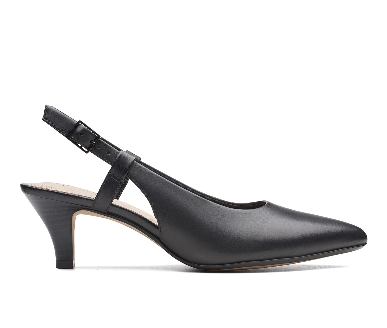 Women's Clarks Linvale Loop Pumps Black Leather