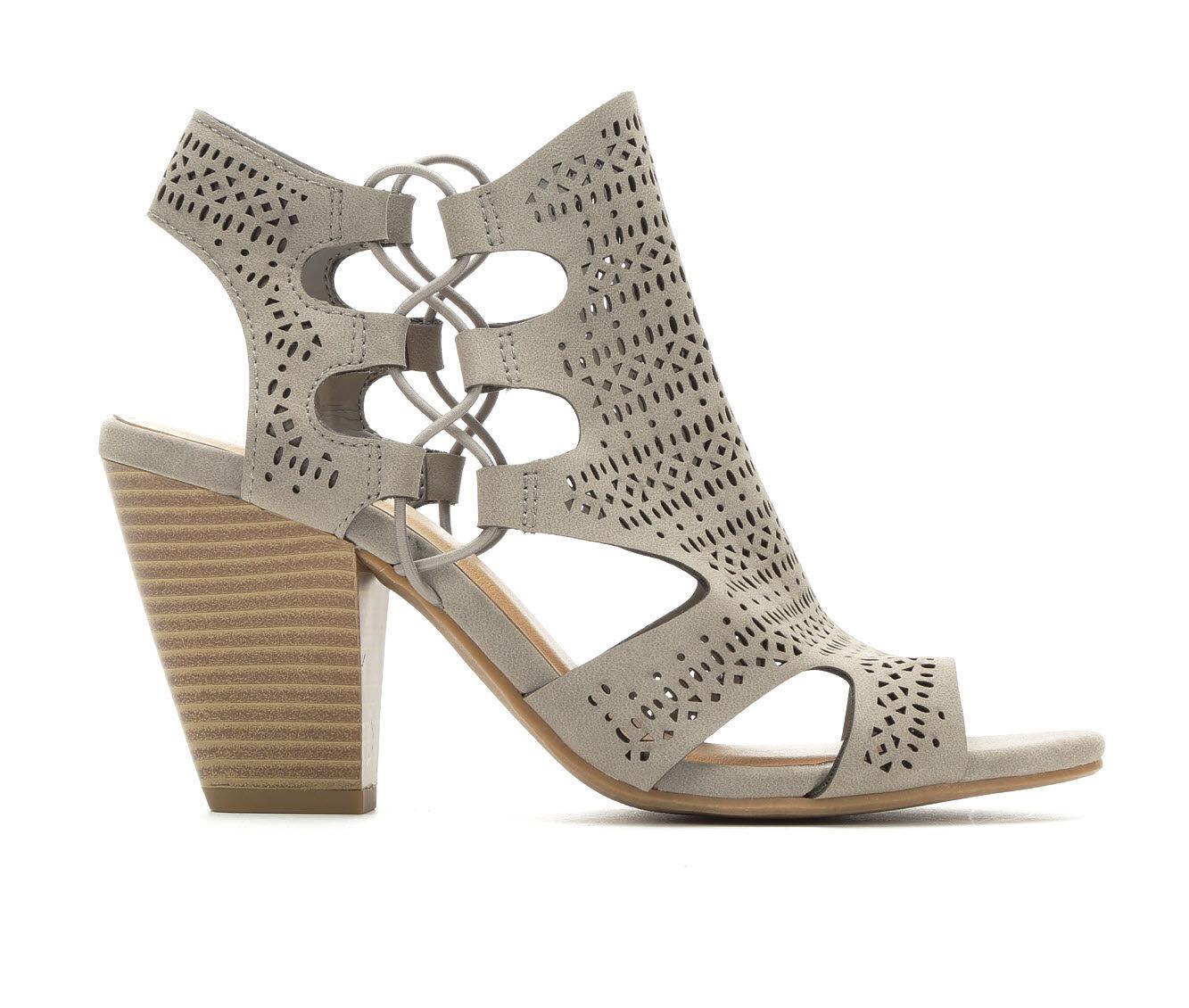 all styles Women's Y-Not Zuka Heeled Sandals Light Grey