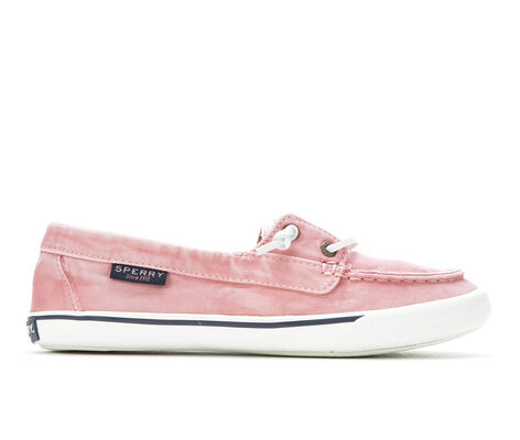 Womens Pink Sperry Boat Shoes