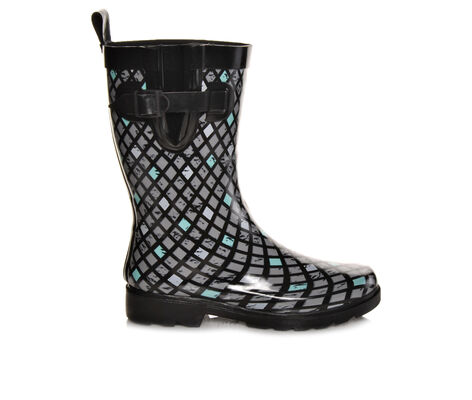 Women's Capelli New York Multi Diamond Lattice Mid Shaft Rain Boots