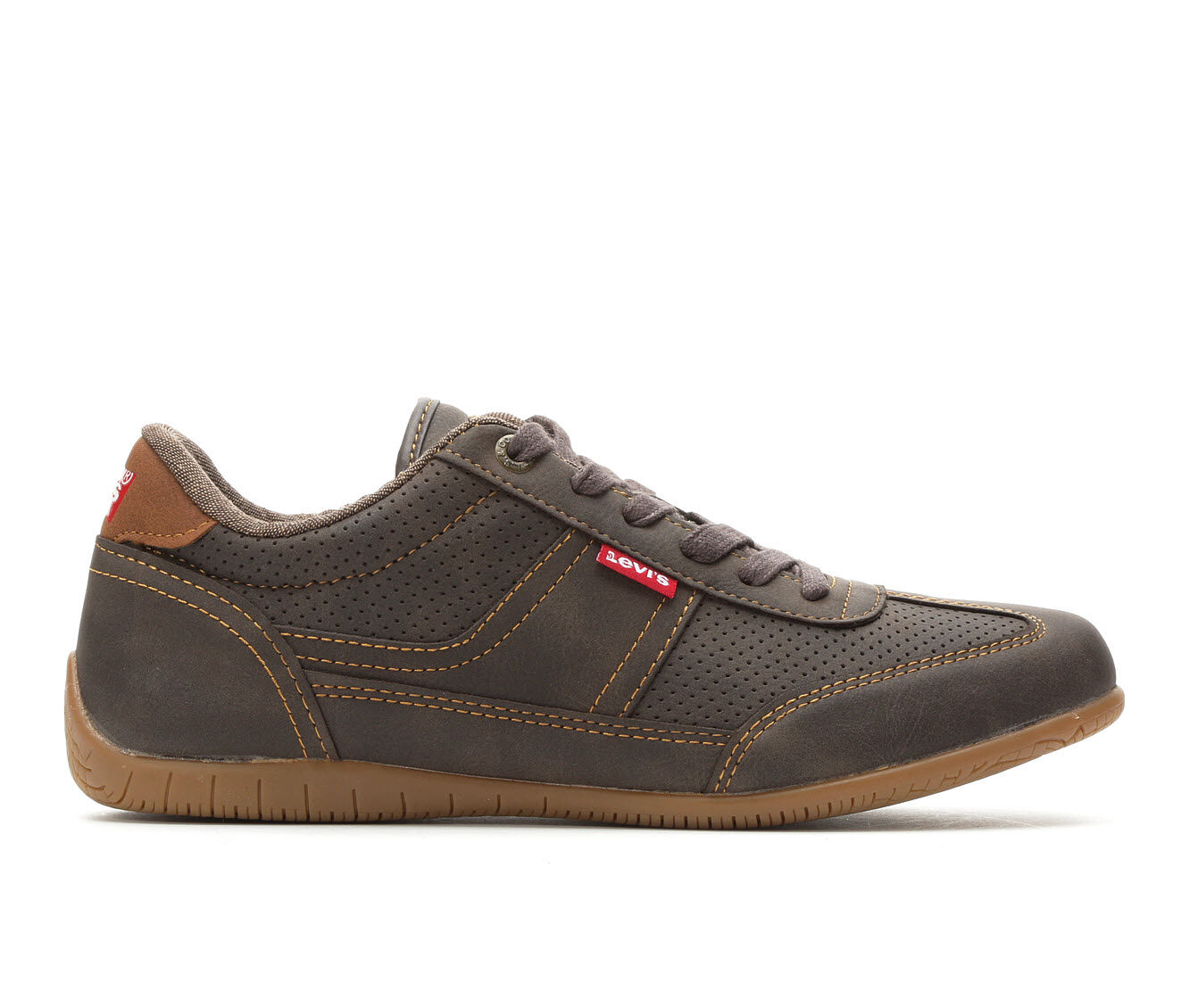 choose comfortable authentic Men's Levis Upland Waxed Casual Shoes Brown/Tan