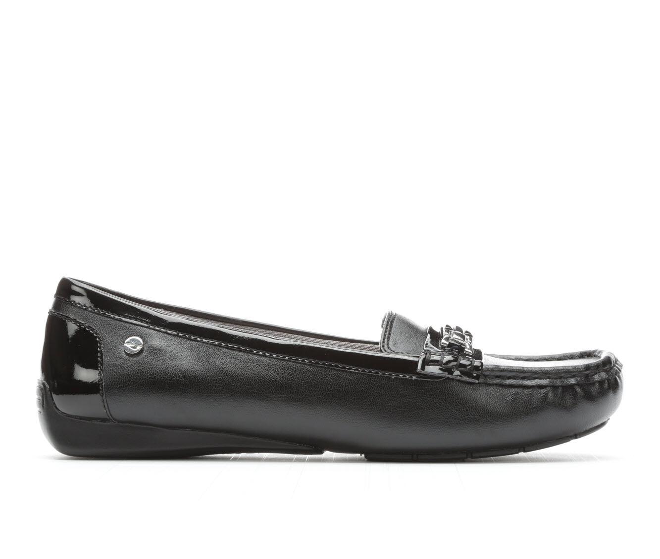 Women's LifeStride Vanity Loafers Black/Black Pat