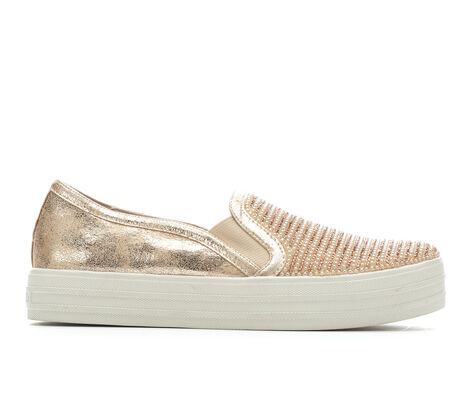 Women's Skechers Street Double Up Shiny Dancer 801 Slip-On Sneakers