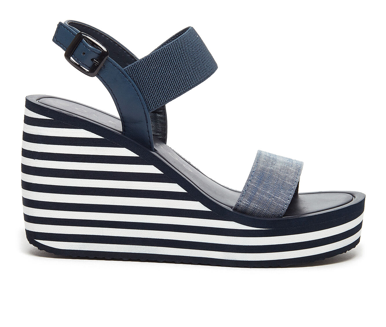 Find Comfortable Women's Rocket Dog Tampico Wedge Sandals Blue/Navy/White
