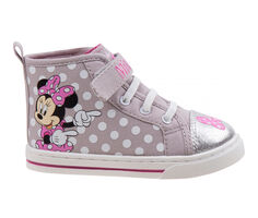 Girls' Disney Toddler & Little Kid Minnie Mouse Canvas High Top Sneakers