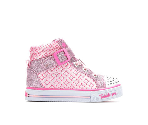 Girls' Skechers Infant Shuffles Twinkle Charm 5-10 Light-Up Sneakers