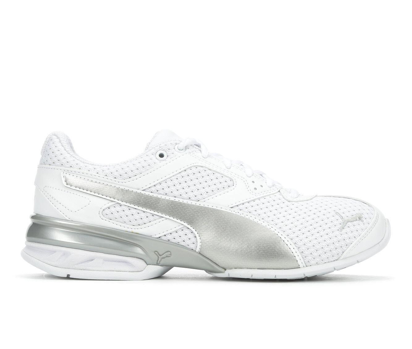 Women's Puma Tazon 6 Knit Sneakers White/Grey