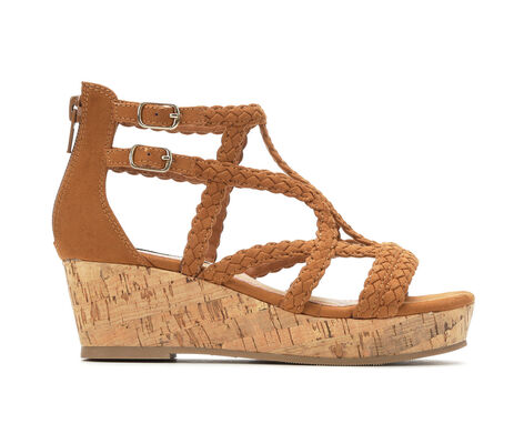 Girls' Steve Madden JLessly 13-5 Braided Wedge Sandals