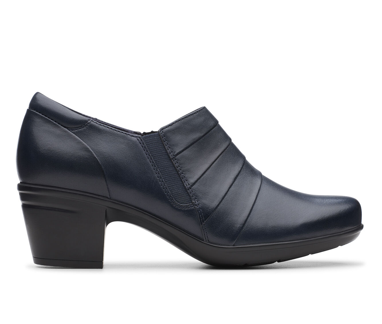 Women's Clarks Emslie Guide Navy Leather