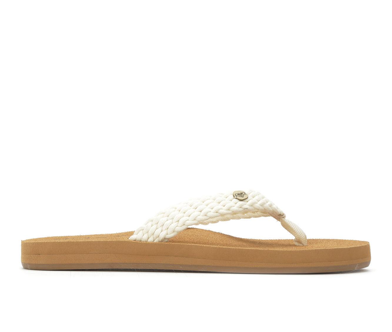 Women's Roxy Tidepool II Woven Flip-Flops Natural