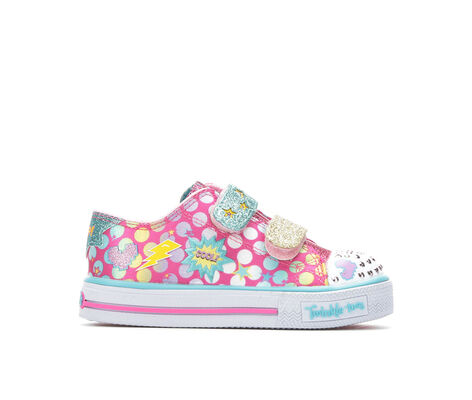 Girls' Skechers Inf Shuffles Poppin Posse 5-10 Light-Up Sneakers
