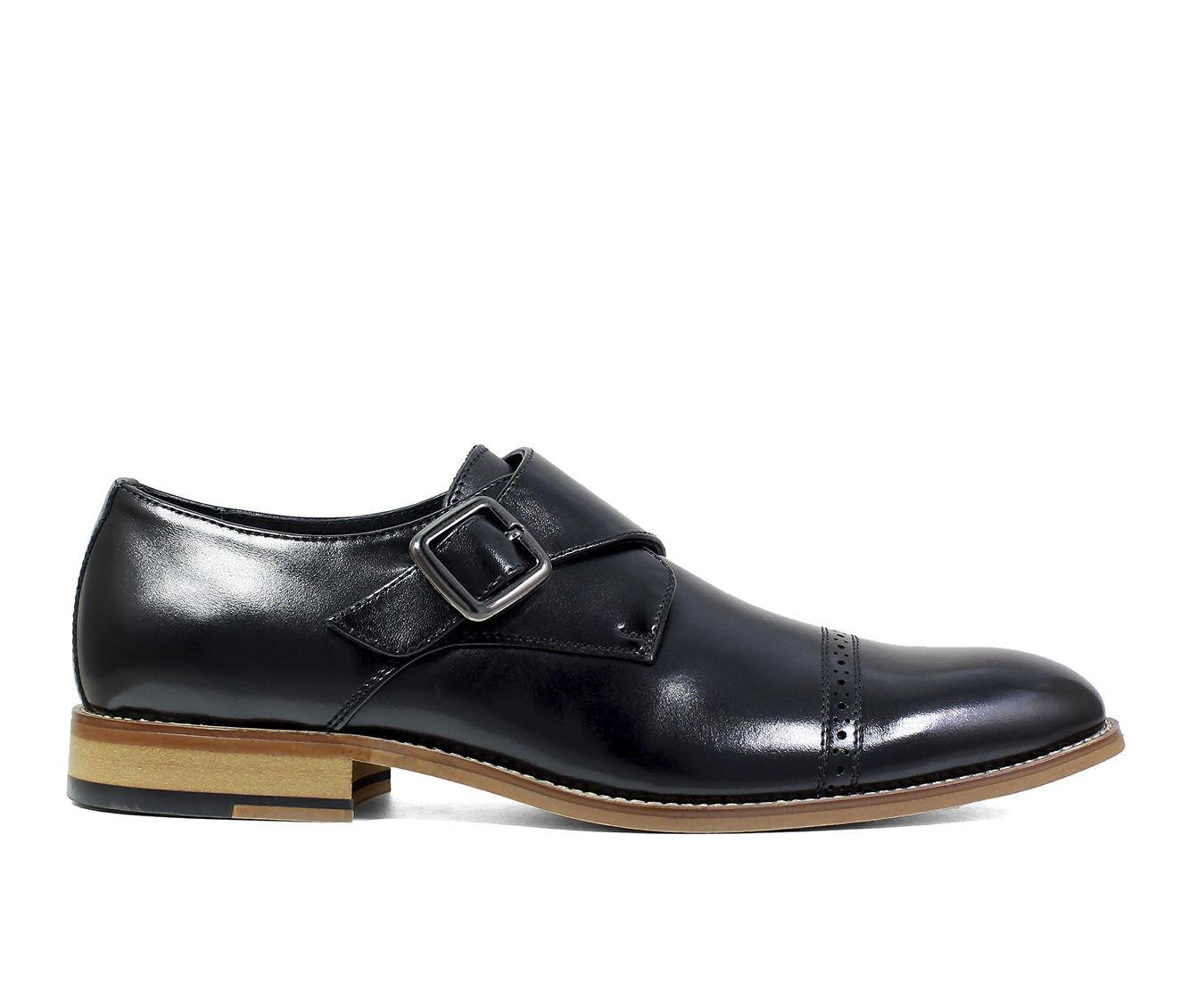 big discount Men's Stacy Adams Desmond Monk Strap Dress Loafers Black