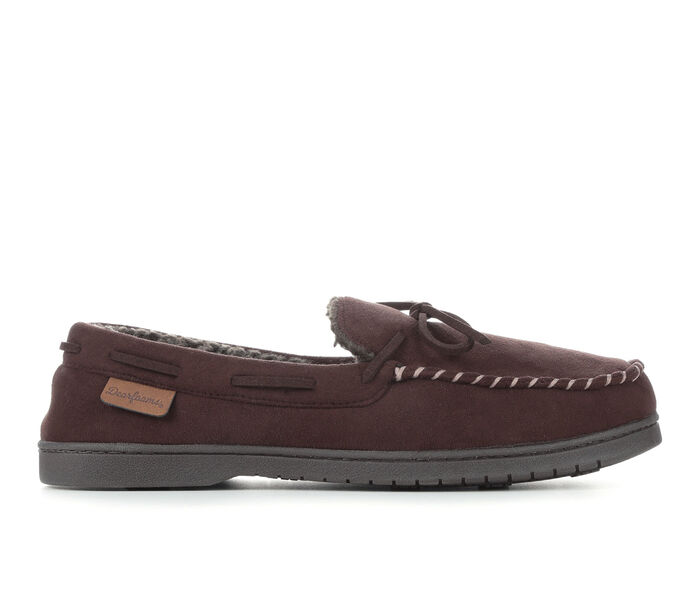 Dearfoams Toby Microsued Moccasin with Tie Slippers