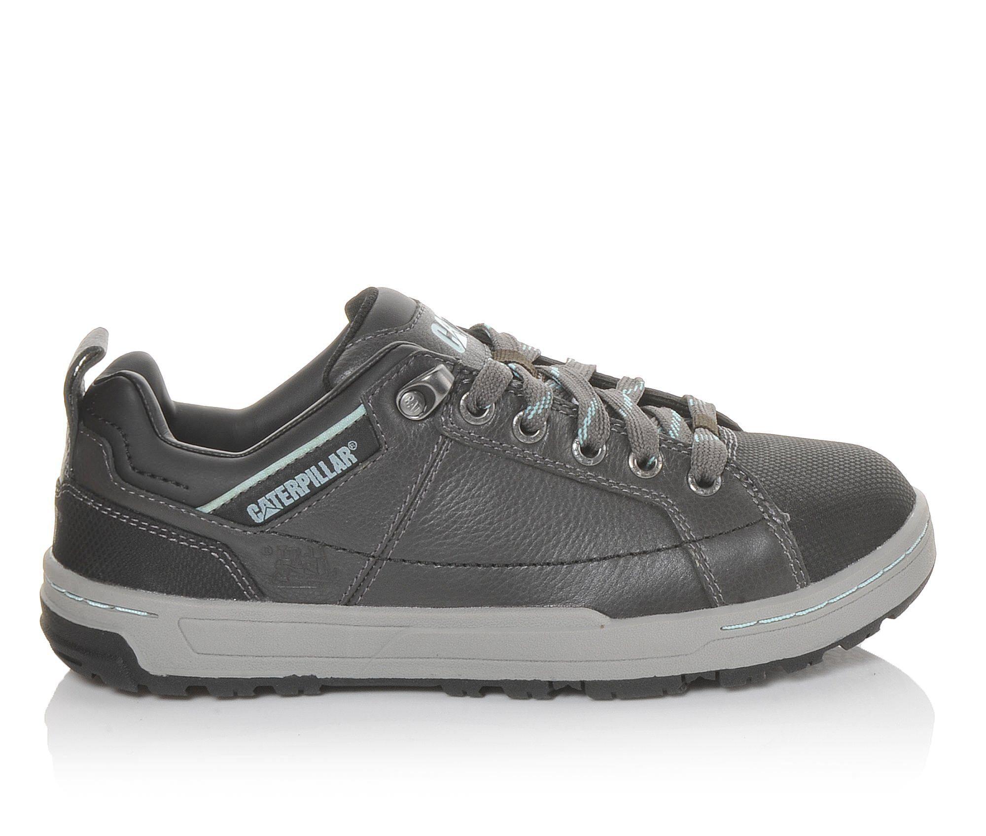 choose authentic Women's Caterpillar Brode Steel Toe Oxford Work Shoes Dark Grey