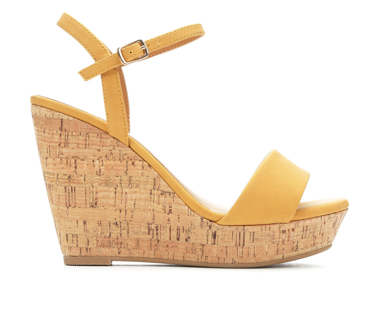 a huge range of Women's Y-Not Elsie Cork Platform Wedge Sandals Mustard