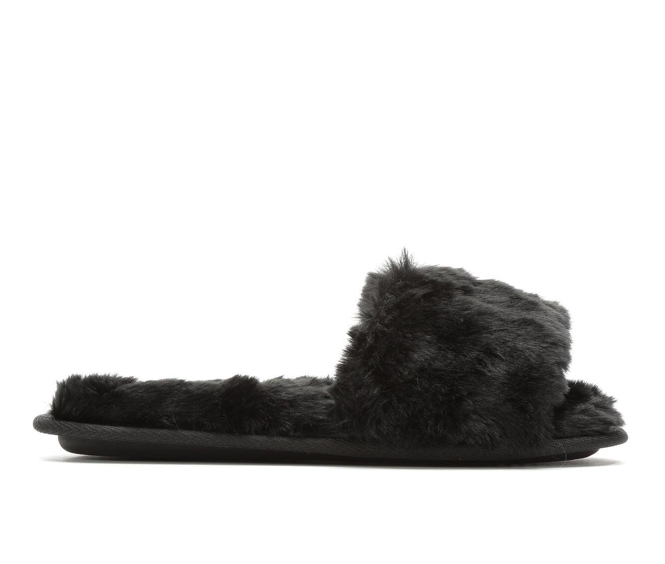 Jessica Simpson Furry Slide Black