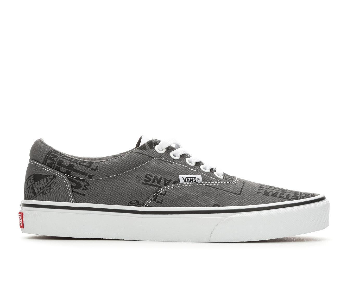 Men's Vans Doheny Skate Shoes Gy/Bk/Wh Logo