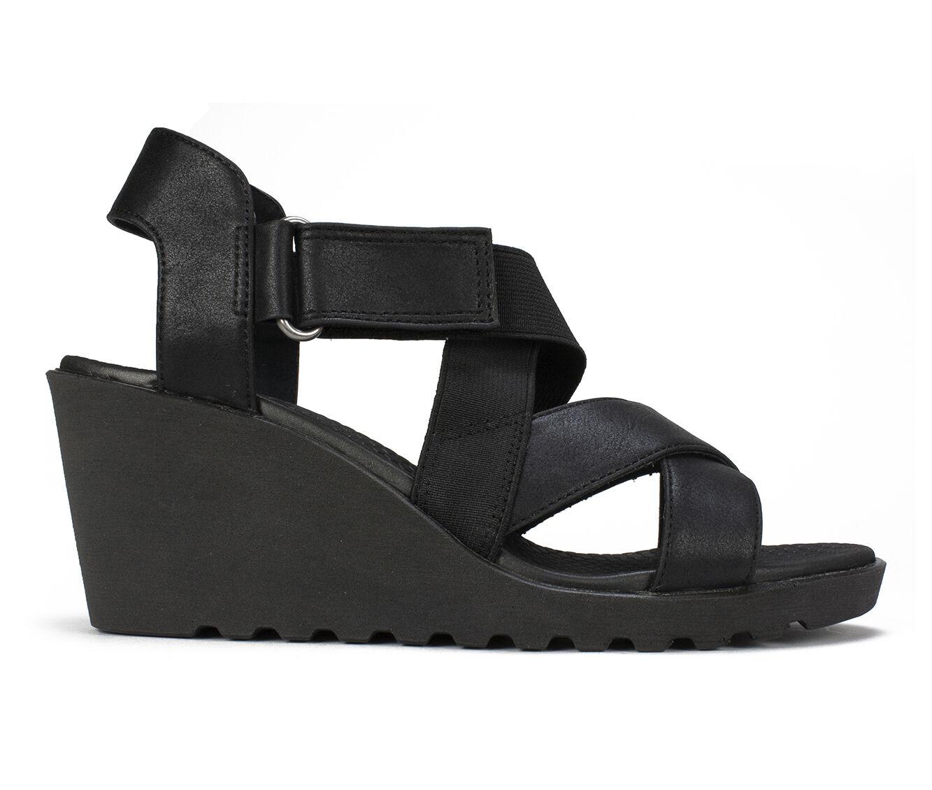 Women's Cliffs Esther Strappy Wedge Sandals Black