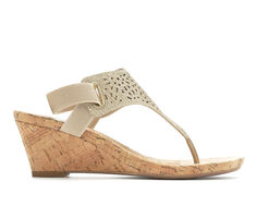 Women's White Mountain Alise Faux Cork Wedges