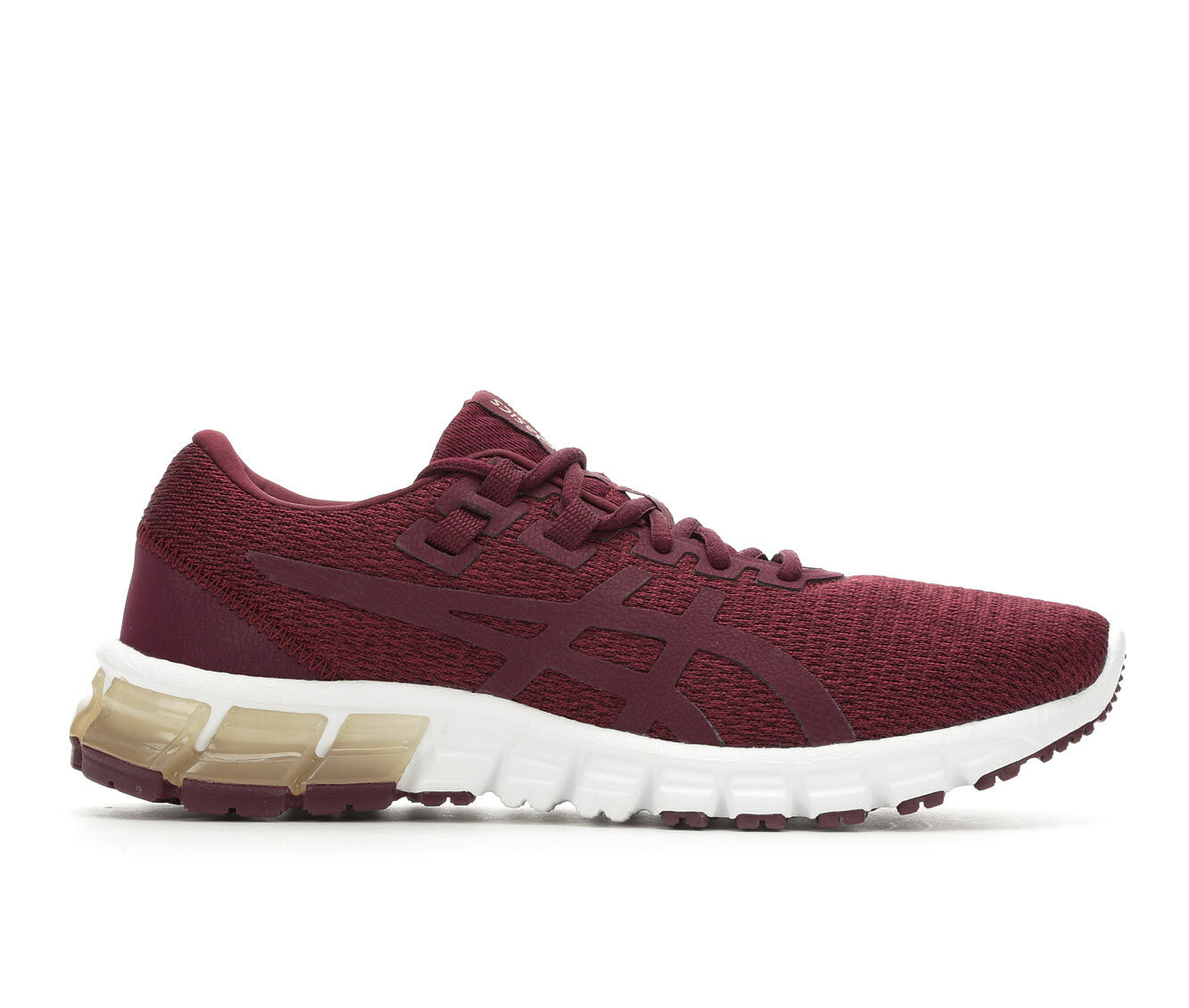 Women's ASICS Gel Quantum 90 Running Shoes Burgundy/Wht