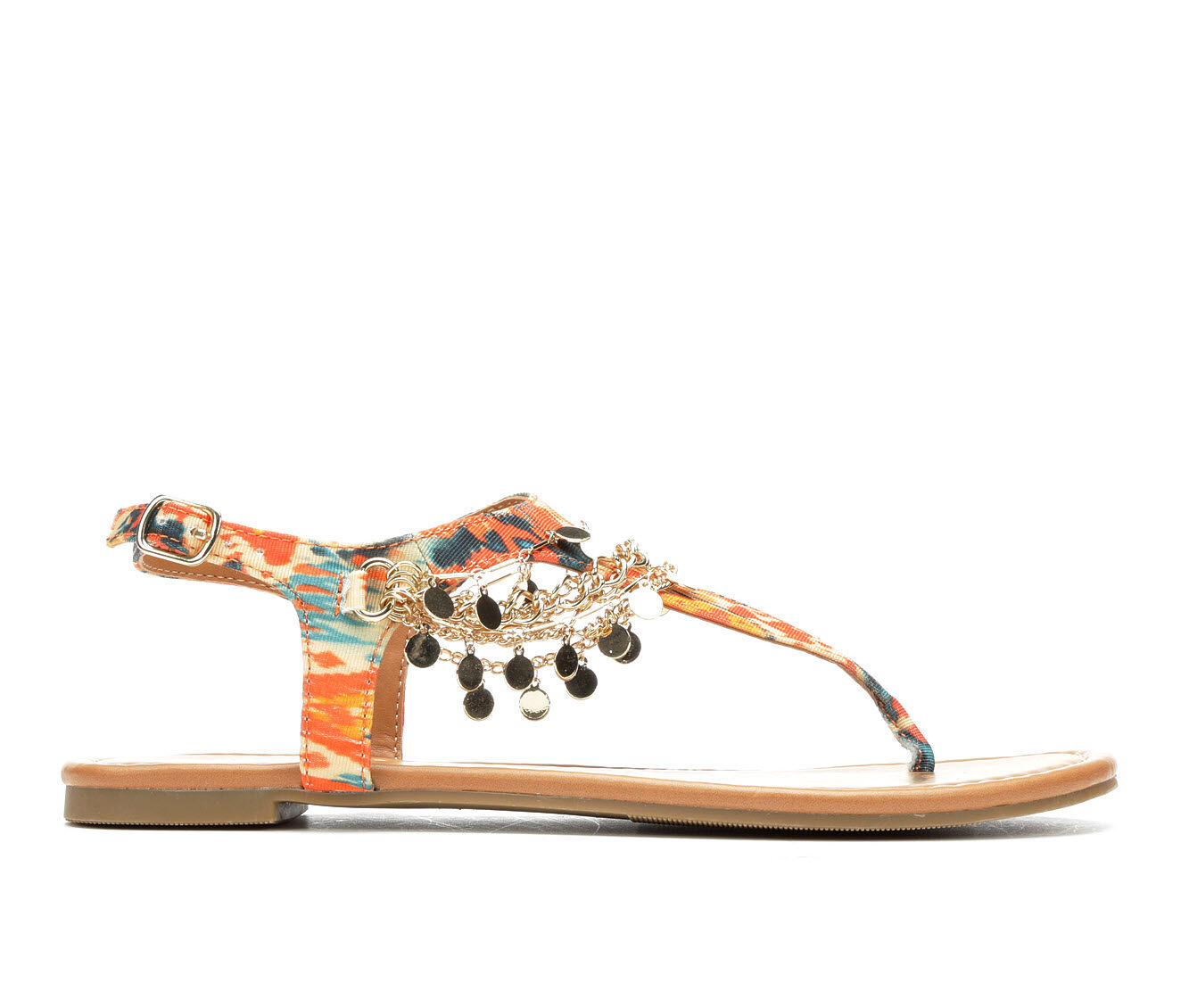 purchase new style Women's Y-Not Above Sandals Orange Aztec