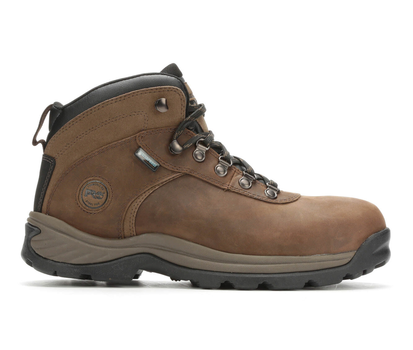 Men's Timberland Pro Flume A1Q8V Steel Toe Waterproof Work Boots Brown