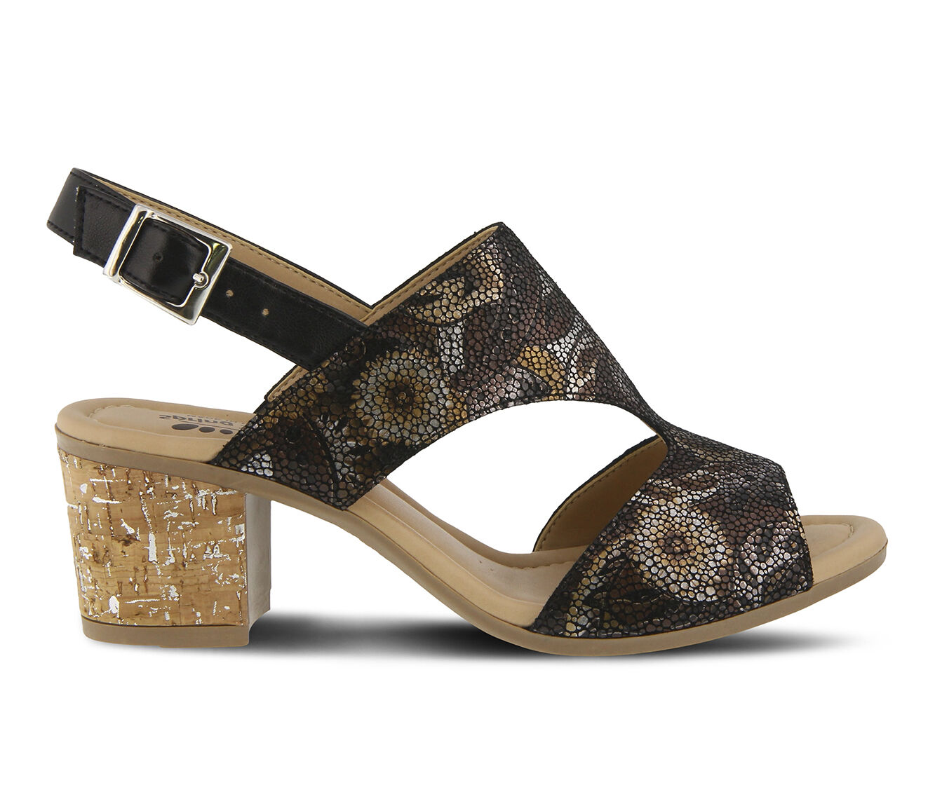 Fashionable Style Women's SPRING STEP Fiorentina Dress Sandals Black Multi