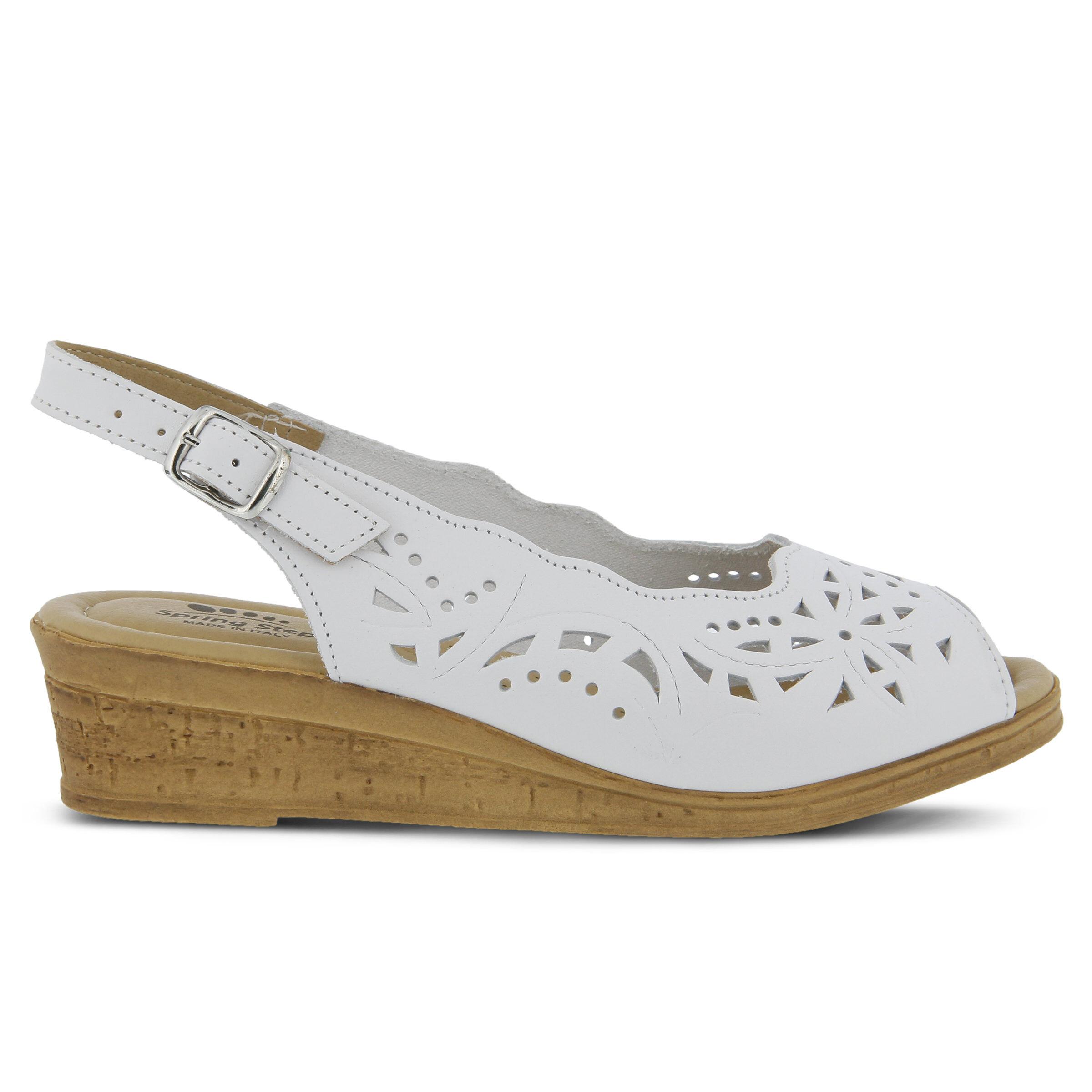 Women's SPRING STEP Orella Wedge Sandals White