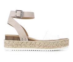 Women's Soda Crystal Flatform Sandals
