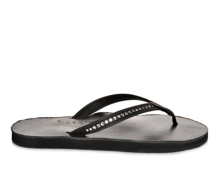 4564e47f5 Women s Rainbow Sandals Leather w  Swarovski Crystals -401ALTSN Flip-Flops  at Shoe Carnival