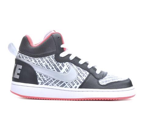 Girls' Nike Court Borough Mid Print 3.5-7 Girls Sneakers
