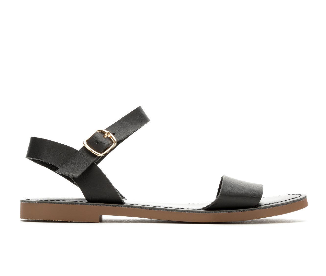 Sophisticated Women's Y-Not Bigboss Flat Sandals Black