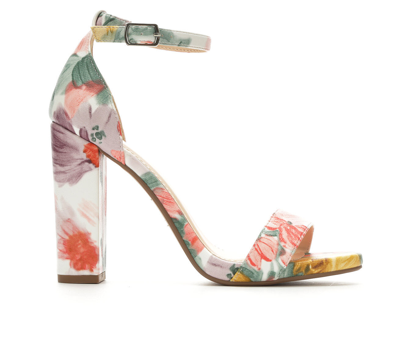 Women's Y-Not Shiner Heeled Sandals Yellow/Pink Mul