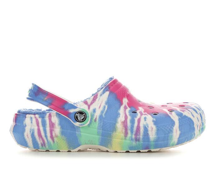 Adults' Crocs Classic Lined Tie Dye Clogs