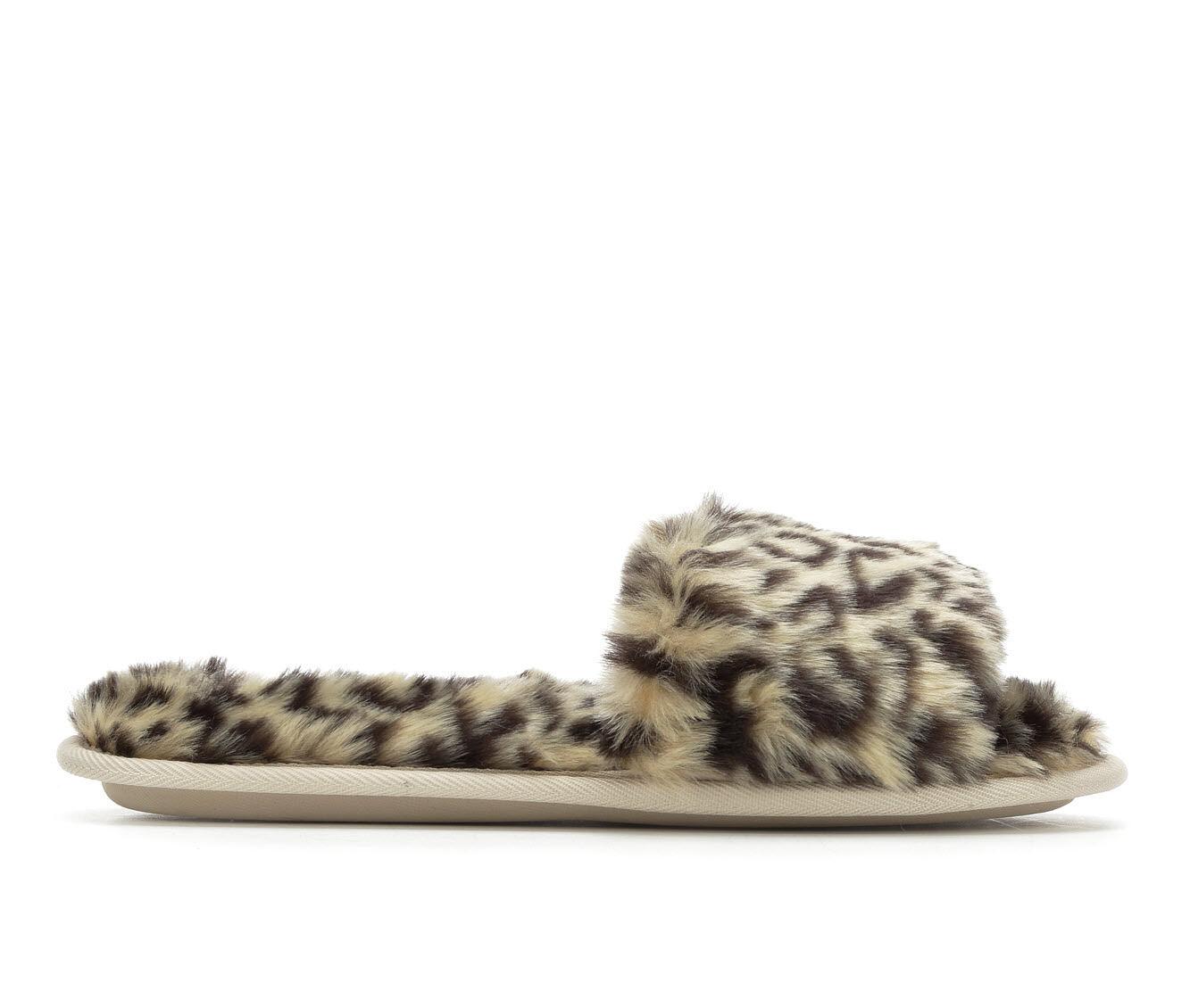 New Fashion Jessica Simpson Furry Slide Animal Print