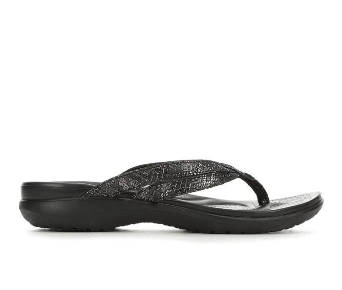 Women's Crocs Capri Metallic Flip Flops