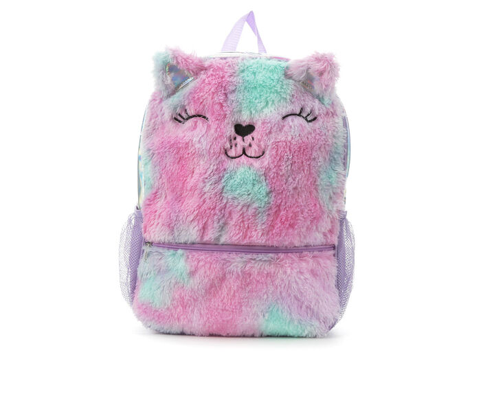 Stella and Max Pastel Plush Cat Backpack