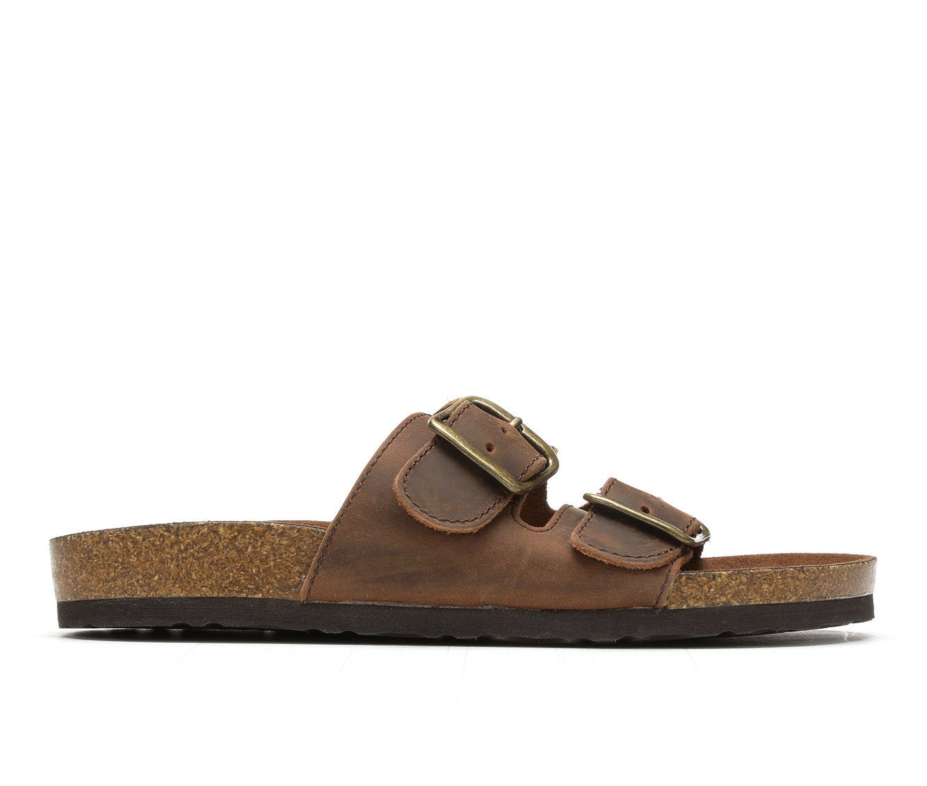 Women's White Mountain Helga Footbed Sandals Brown Leather