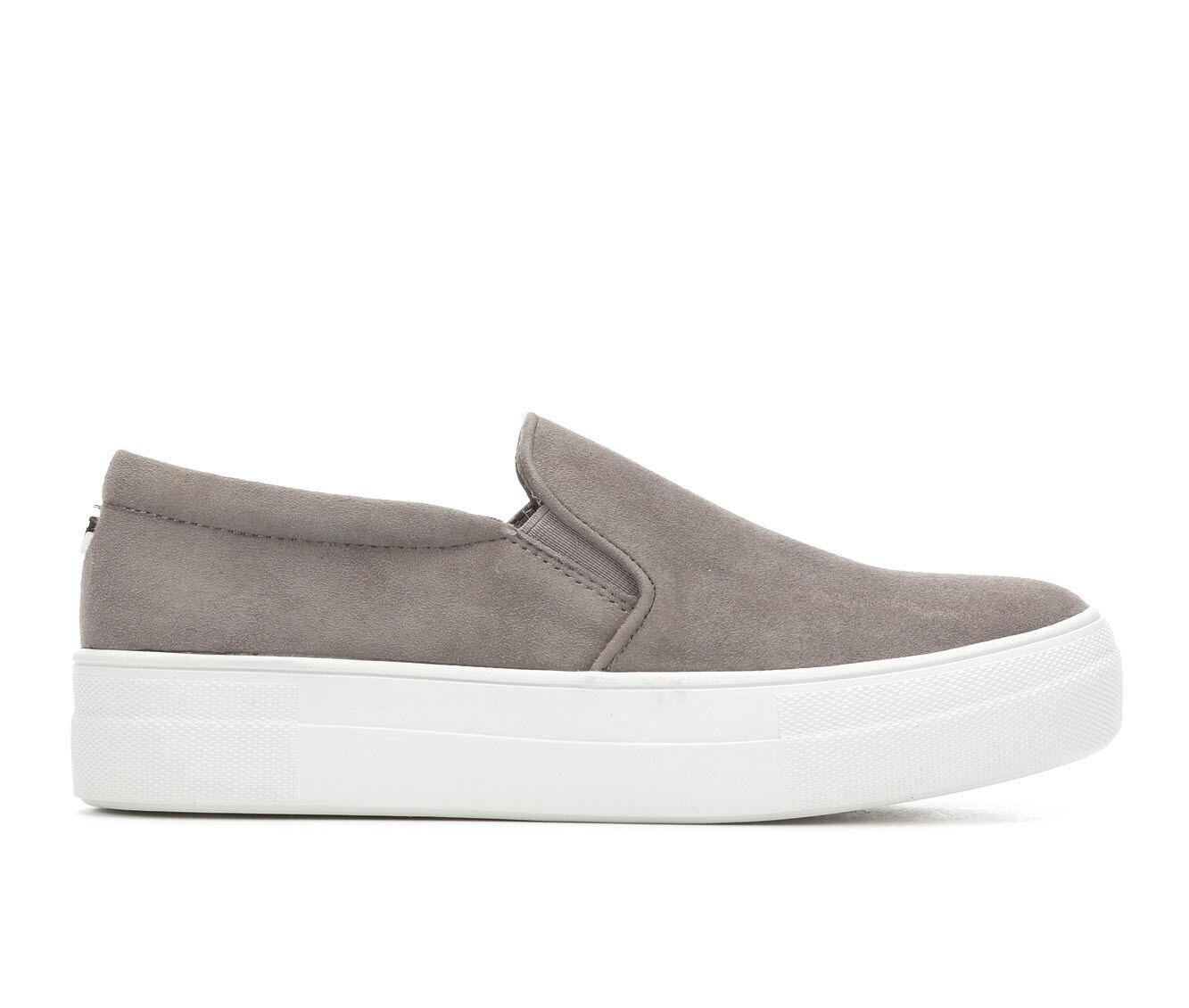 Women's Steve Madden Gills Flatform Sneakers Grey Suede