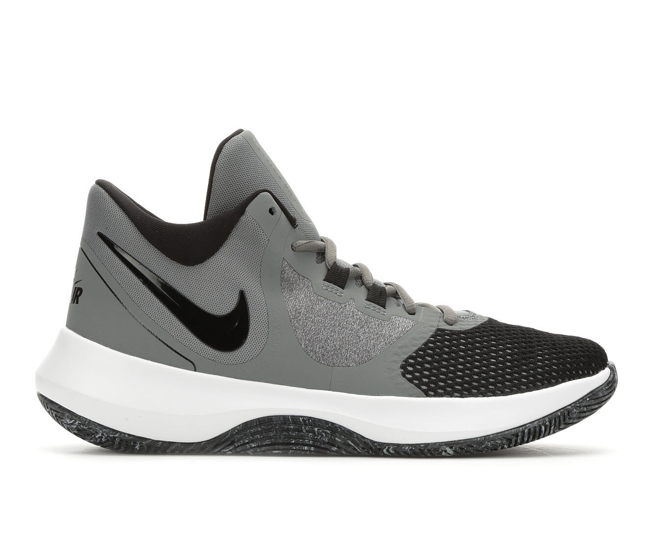Superior Quality Men's Nike Air Precision II High Top Basketball Shoes Gry/Blk/Wht 011