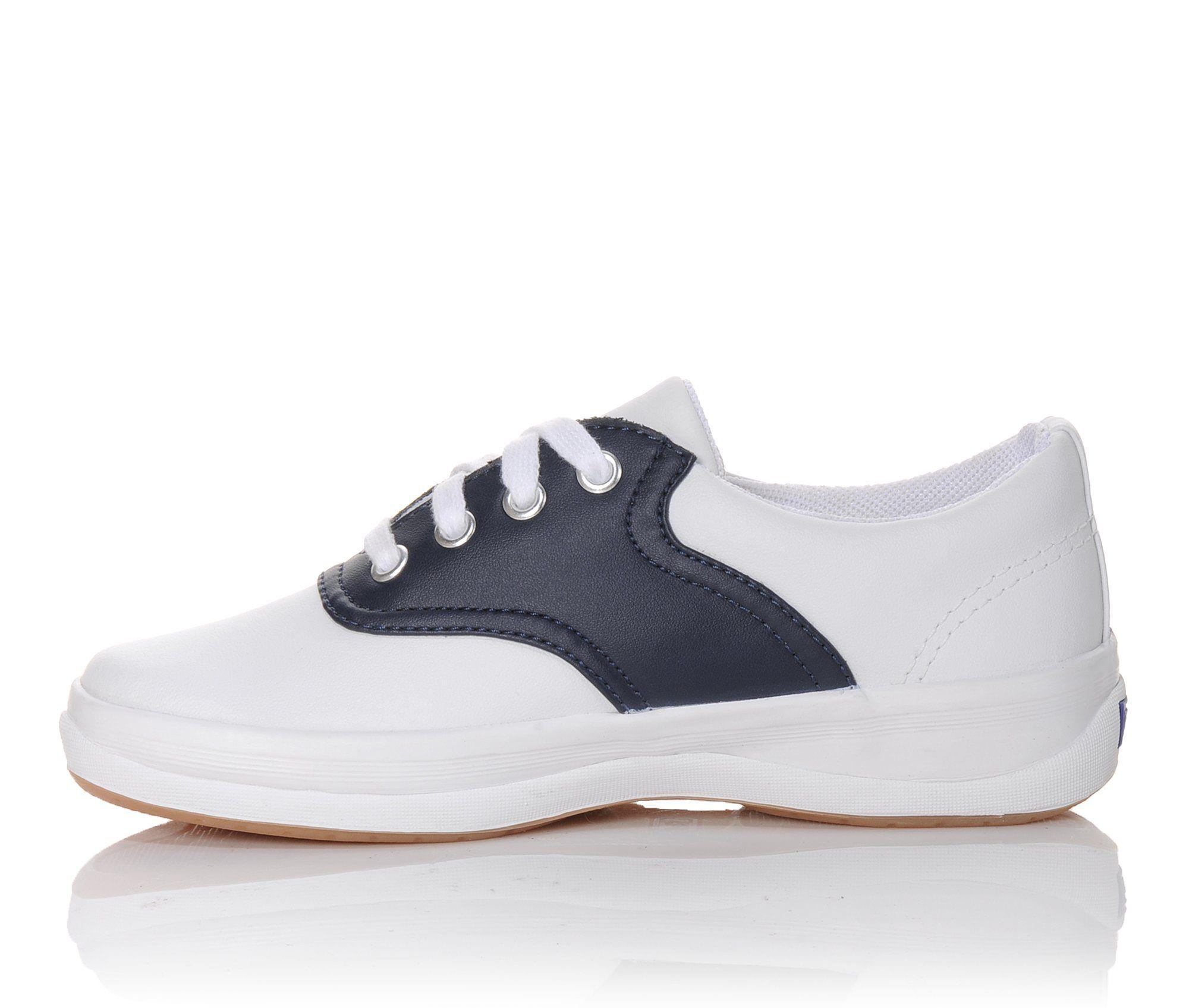 Keds unisex-child School Days II Sneaker White//Navy,4.5 M US Big Kid
