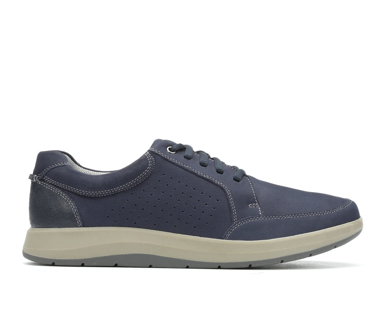 Price Down Men's Clarks Shoda Free Oxfords Navy Nubuck
